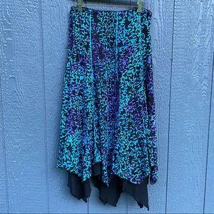 Eagle Ray Traders Rayon Boho Tie Dye Skirt
